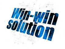Finance concept: Win-win Solution on Digital background Stock Photos