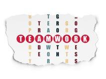 Finance concept: word Teamwork in solving Stock Photos