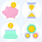 Finance concepts. Flat vector colored illustrations of the various finance concepts Stock Image