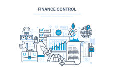 Finance control, analysis and market research, deposits, contributions and savings. Royalty Free Stock Image