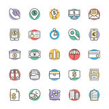 Finance Cool Vector Icons 3. This icon set is useful for Finance. It consist kind of all symbol that use in business, finance, banking, investment and many more Royalty Free Stock Photo