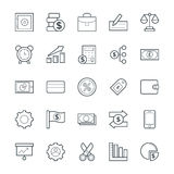 Finance Cool Vector Icons 4. This icon set is useful for Finance. It consist kind of all symbol that use in business, finance, banking, investment and many more Royalty Free Stock Photography