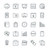 Finance Cool Vector Icons 5 Royalty Free Stock Photography