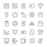 Finance Cool Vector Icons 2. This icon set is useful for Finance. It consist kind of all symbol that use in business, finance, banking, investment and many more Royalty Free Stock Photography