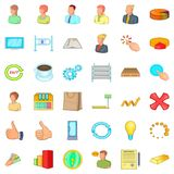 Finance corporation icons set, cartoon style Stock Image