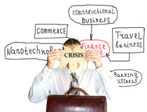 Finance crisis Stock Images