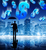 Finance Crisis Money Accounting Cityscape Concept Stock Photography