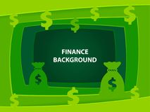 Finance 3D abstract background with paper cut shapes. Finance 3D abstract green background with paper cut shapes Royalty Free Stock Image