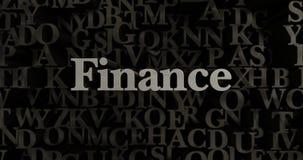 Finance - 3D rendered metallic typeset headline illustration Stock Image