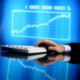 Finance data Stock Photography