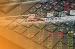Finance data on keyboard background business concept for background use Stock Images