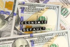 Finance debt words. Finance US debt is words Royalty Free Stock Photography