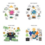 Finance Decorative Icons Set Royalty Free Stock Photos