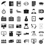 Finance department icons set, simple style Stock Photos