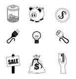 Finance des graphismes Images stock
