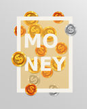 Finance design elements. Background with coins or money. Business concept. Stock Photography