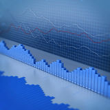 Finance diagram. 3d render image Royalty Free Stock Photos