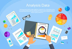 Finance Diagram Documents Desk Analysis stock illustration