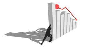 Finance diagram is falling down. THe Finance economic diagram is falling down Stock Photos