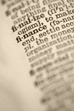 Finance in dictionary. Stock Image