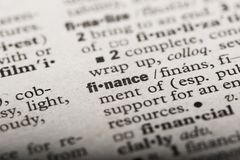 `Finance` in a Dictionary stock illustration