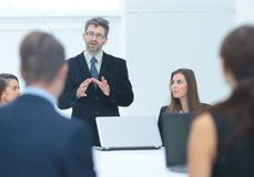 Finance Director holds a meeting with the employees of the compa Royalty Free Stock Photography