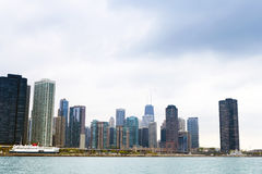 Finance District in Chicago Royalty Free Stock Image