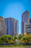 Finance District Of Honolulu Stock Photos