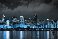 Finance District at Night Royalty Free Stock Photo