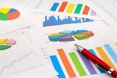 Finance documents. The heap of finance documents Royalty Free Stock Photography