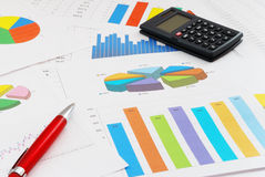 Finance documents. The heap of finance documents Stock Photography