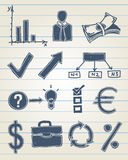 Finance doodle set. Vector illustration of finance related icons in sketchy style Royalty Free Stock Photo