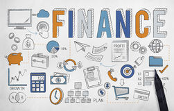 Finance Economics Savings Money Credit Concept.  Royalty Free Stock Photos