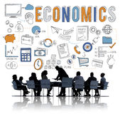 Finance Economics Savings Money Credit Concept. Business People Discuss Finance Economics Savings stock images