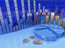 Finance and economy. Computer generated conceptual image representing finance, economy, money and business Stock Image