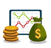 Finance economy design. Illustration eps10 graphic Royalty Free Stock Images