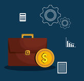 Finance economy design. Illustration eps10 graphic Royalty Free Stock Photo