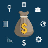 Finance economy design. Illustration eps10 graphic Stock Photo