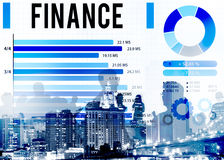 Finance Economy Investment Money Financial Concept.  Royalty Free Stock Photo