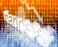 Finance economy worsening concept. Finance economy trend concept illustration background worsening downwards Stock Images