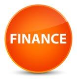 Finance elegant orange round button. Finance  on elegant orange round button abstract illustration Stock Photos