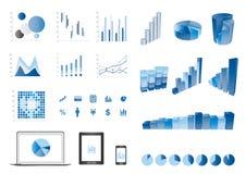 Finance elemtns. 3d bar chart  finance elemtns Stock Images