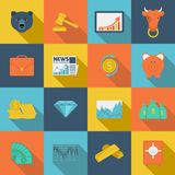 Finance exchange flat icons Royalty Free Stock Images