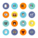 Finance Exchange Icons. Finance bank credit money exchange trading icons flat set isolated vector illustration Stock Photography