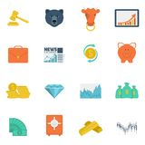 Finance exchange icons flat Royalty Free Stock Image