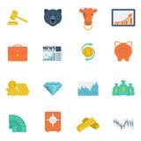 Finance exchange icons flat Royalty Free Stock Image