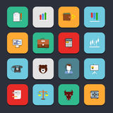 Finance exchange icons flat Stock Image