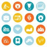 Finance exchange round icons Royalty Free Stock Photos