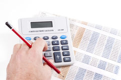Finance figures Royalty Free Stock Photo