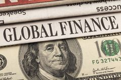 Finance. Recession stock market currency real estate newspaper business royalty free stock image